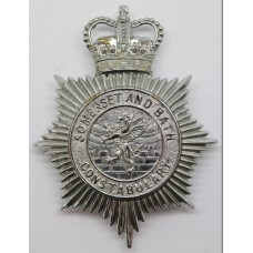 Somerset and Bath Constabulary Helmet Plate - Queen's Crown