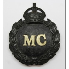 Monmouthshire Constabulary Black Wreath Helmet Plate - King's Cro