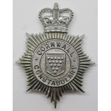 Cornwall Constabulary Helmet Plate - Queen's Crown