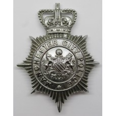 Manchester City Police Helmet Plate - Queen's Crown