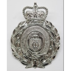 Dewsbury Borough Police Wreath Helmet Plate - Queen's Crown