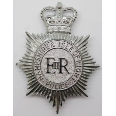 Hampshire & Isle of Wight Police Helmet Plate - Queen's Crown