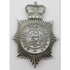 Bristol Constabulary (B62) Helmet Plate - Queen's Crown