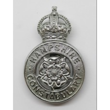 Hampshire Constabulary Cap Badge - King's Crown