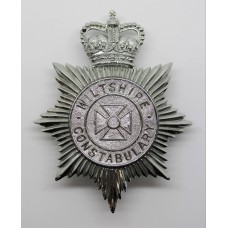 Wiltshire Constabulary Helmet Plate - Queen's Crown