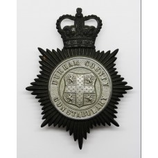 Durham County Constabulary Night Helmet Plate - Queen's Crown