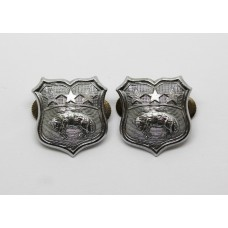 Pair of Leeds City Police Collar Badges