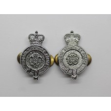 Pair of North Yorkshire Police Collar Badges - Queen's Crown
