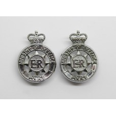 Pair of Ministry of Defence Police Collar Badges - Queen's Crown