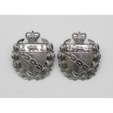 Pair of Norfolk Constabulary Collar Badges - Queen's Crown