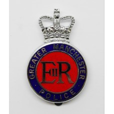 Greater Manchester Police Enamelled Cap Badge - Queen's Crown