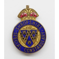 Shropshire Special Constabulary Enamelled Lapel Badge - King's Crown