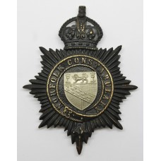 Norfolk Constabulary Night Helmet Plate - King's Crown