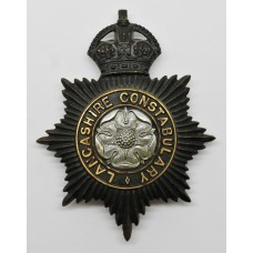 Lancashire Constabulary Night Helmet Plate - King's Crown