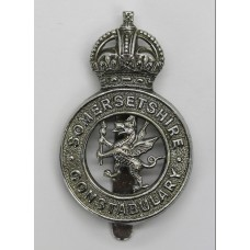 Somerset Constabulary Cap Badge - King's Crown