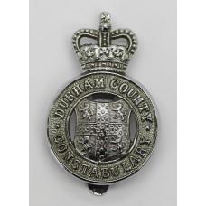 Durham County Constabulary Cap Badge - Queen's Crown