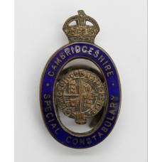 Cambridgeshire Special Constabulary Enamelled Lapel Badge - King's Crown