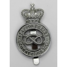 Staffordshire County Police Cap Badge - Queen's Crown