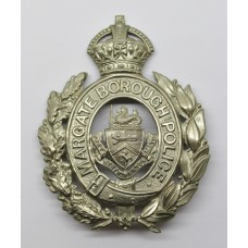 Margate Borough Police Wreath Helmet Plate (Fretted Out Centre) - King's Crown