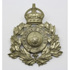 Ramsgate Borough Police Wreath Helmet Plate - King's Crown