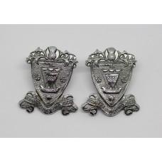 Pair of Renfrew & Bute Constabulary Collar Badges