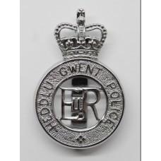 Heddlu Gwent Police Cap Badge - Queen's Crown