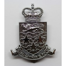 Royal Cayman Islands Police Cap Badge - Queen's Crown