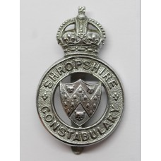 Shropshire Constabulary Cap Badge - King's Crown