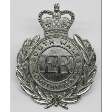 South Wales Constabulary Wreath Cap Badge - Queen's Crown