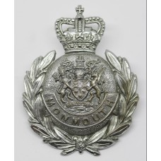 Monmouthshire Constabulary Wreath Helmet Plate - Queen's Crown