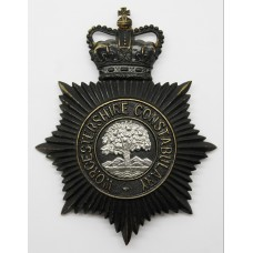 Worcestershire Constabulary Night Helmet Plate - Queen's Crown