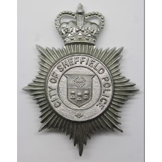 Sheffield City Police Helmet Plate - Queen's Crown