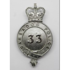 Barbados Police Helmet Plate - Queen's Crown