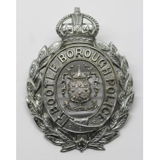 Bootle Borough Police Wreath Helmet Plate - King's Crown