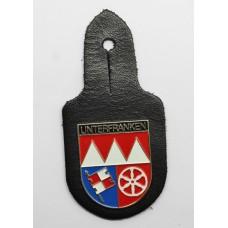 German Unterfranken (Lower Franconia) Bavaria Police Breast Badge Fob