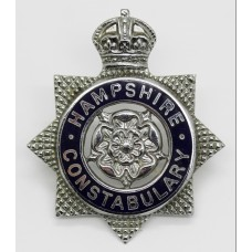 Hampshire Constabulary Senior Officer's Enamelled Cap Badge - King's Crown