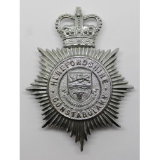 Herefordshire Constabulary Helmet Plate - Queen's Crown