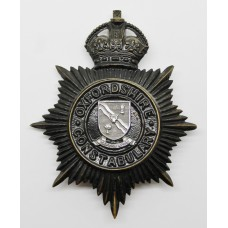 Oxfordshire Constabulary Night Helmet Plate - King's Crown