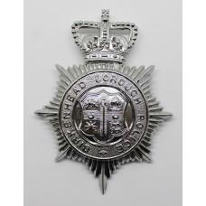 Birkenhead Borough Police Helmet Plate - Queen's Crown