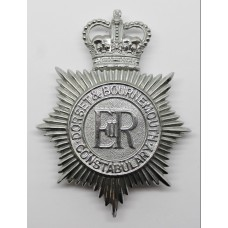 Dorset & Bournemouth Constabulary Helmet Plate - Queen's Crow