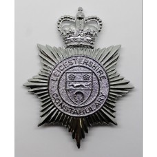 Leicestershire Constabulary Helmet Plate - Queen's Crown