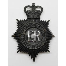 Bedfordshire & Luton Constabulary Night Helmet Plate - Queen'