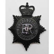 Bedfordshire Police Night Helmet Plate - Queen's Crown