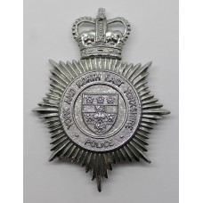 York and North East Yorkshire Police Helmet Plate - Queen's Crown