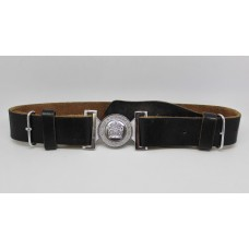 Lothian & Borders Police Leather Belt with Chrome Buckle (1975 - 2013)