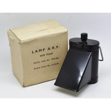 WW2 Air Raid Precautions A.R.P. Lamp with Hood in Original Box