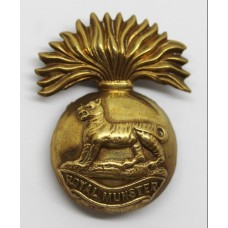Royal Munster Fusiliers Brass Cap Badge #14