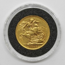 1882 S Victoria 22ct Gold Full Sovereign Coin (Sydney Mint)