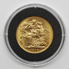 1918 M George V 22ct Gold Full Sovereign Coin (Melbourne Mint)