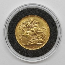 1908 Edward VII 22ct Gold Full Sovereign Coin